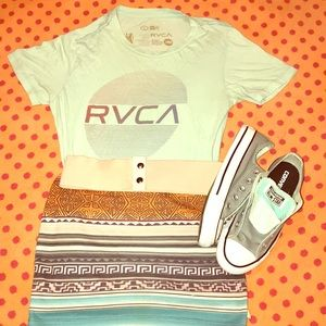 VTG BOHO HIP RVCA®️ARTIST NETWORK FITTED TEE SML